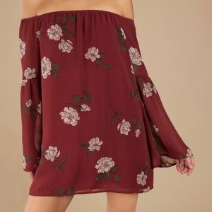 ❤️BARE BONES WINE MULTI FLORAL SHIFT DRESS❤️